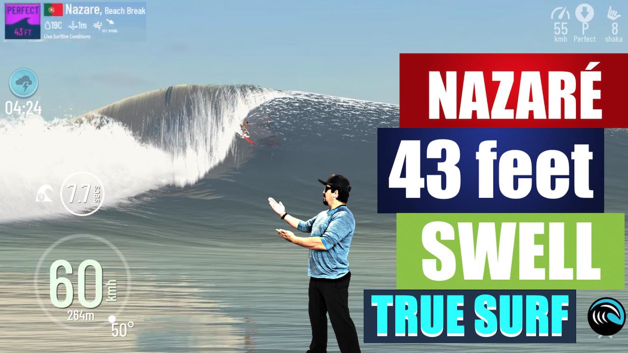 TRUE SURF NAZARE ONDAS GIGANTES INESPERADO SURFING SWELL (EPISÓDIO 48)