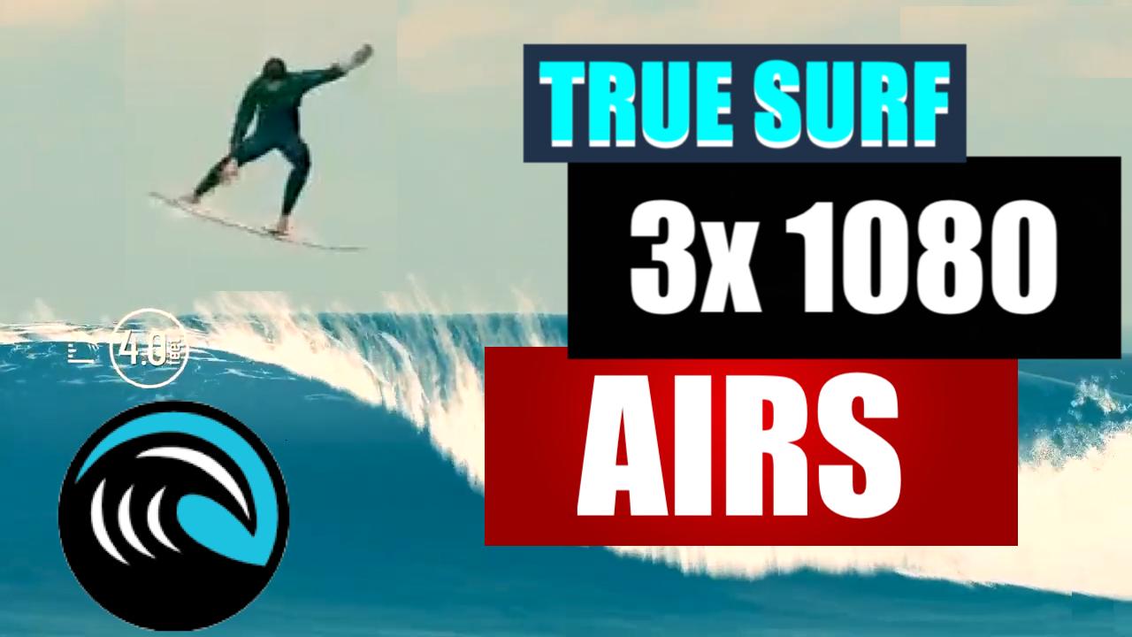 AÉREO JOGO TRUE SURF MANOBRA 1080 CANAL ANDREW L.A. [MOBILE GAMING]